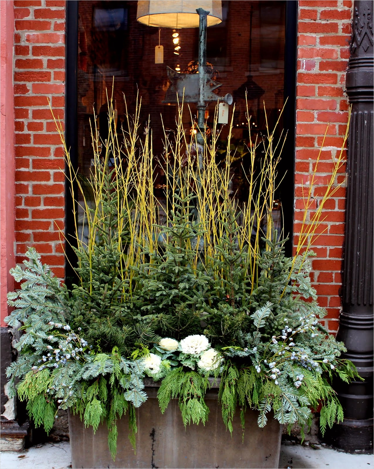 42 Beautiful Christmas Outdoor Pot Decorations Ideas 76 5th and State Winter Containers Ideas for Diy 5
