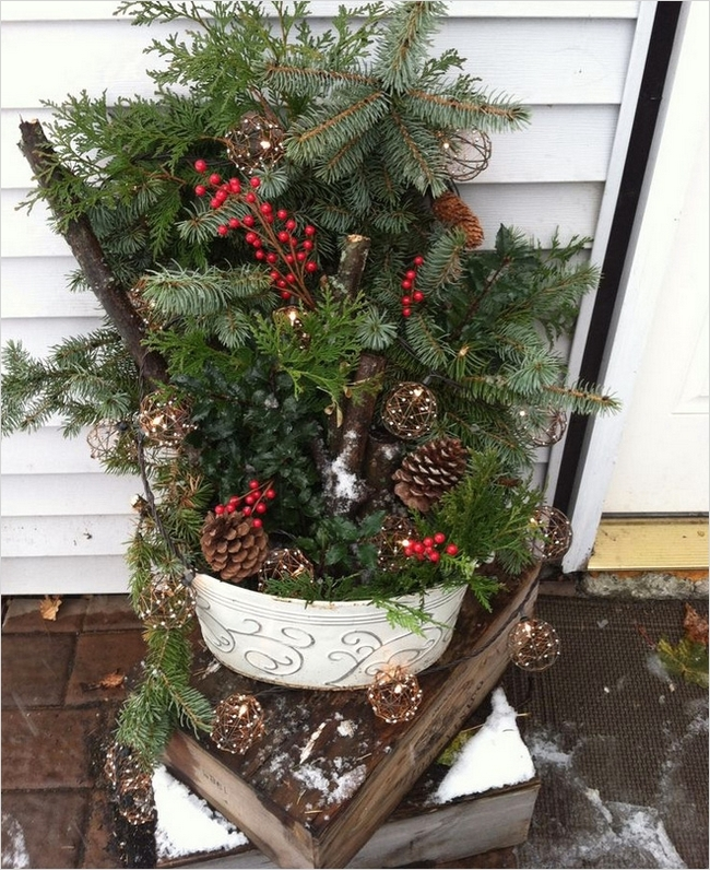 Christmas Outdoor Pot Decorations 30 Decorelated