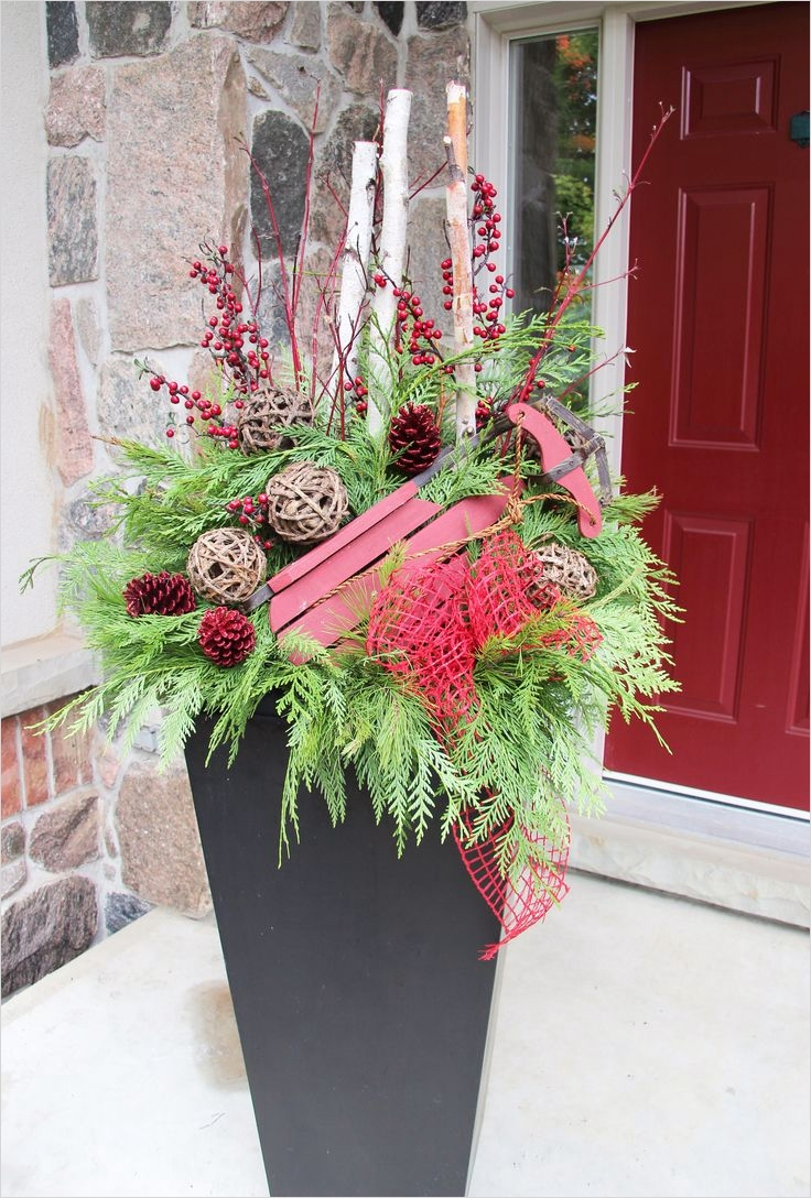 42 Beautiful Christmas Outdoor Pot Decorations Ideas 73 34 Best Images About Outdoor Christmas Planters On Pinterest 5