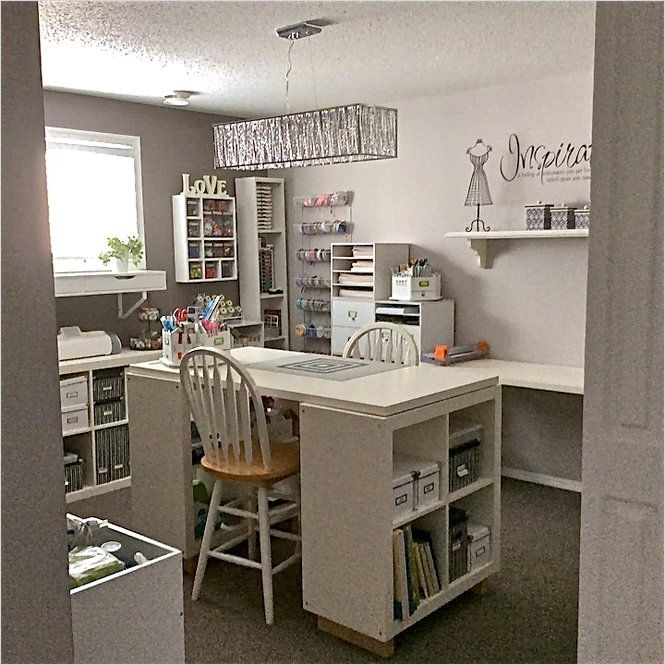 7 Basement Ideas On A Budget Chic Convenience For The Home: Ikea Scrapbook Room For Storage 38