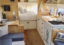 43 Perfect Rv and Camper Interior Ideas 28 Fabulous Rv Camper Vintage Bedroom Interior Design Ideas Worth to See 3