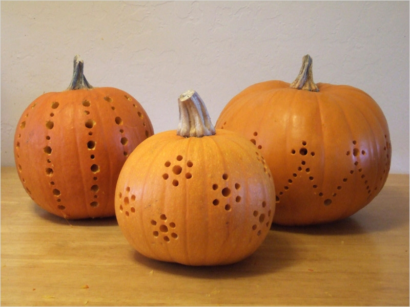40 Simple Pumpkin Carving with Drill Ideas 62 Pumpkins Carved with A Drill Crafty Nest 3