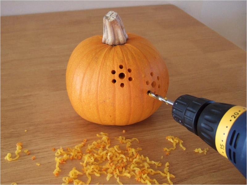 40 Simple Pumpkin Carving with Drill Ideas 16 How to Make Drill Carved Halloween Pumpkins Diy & Crafts 2