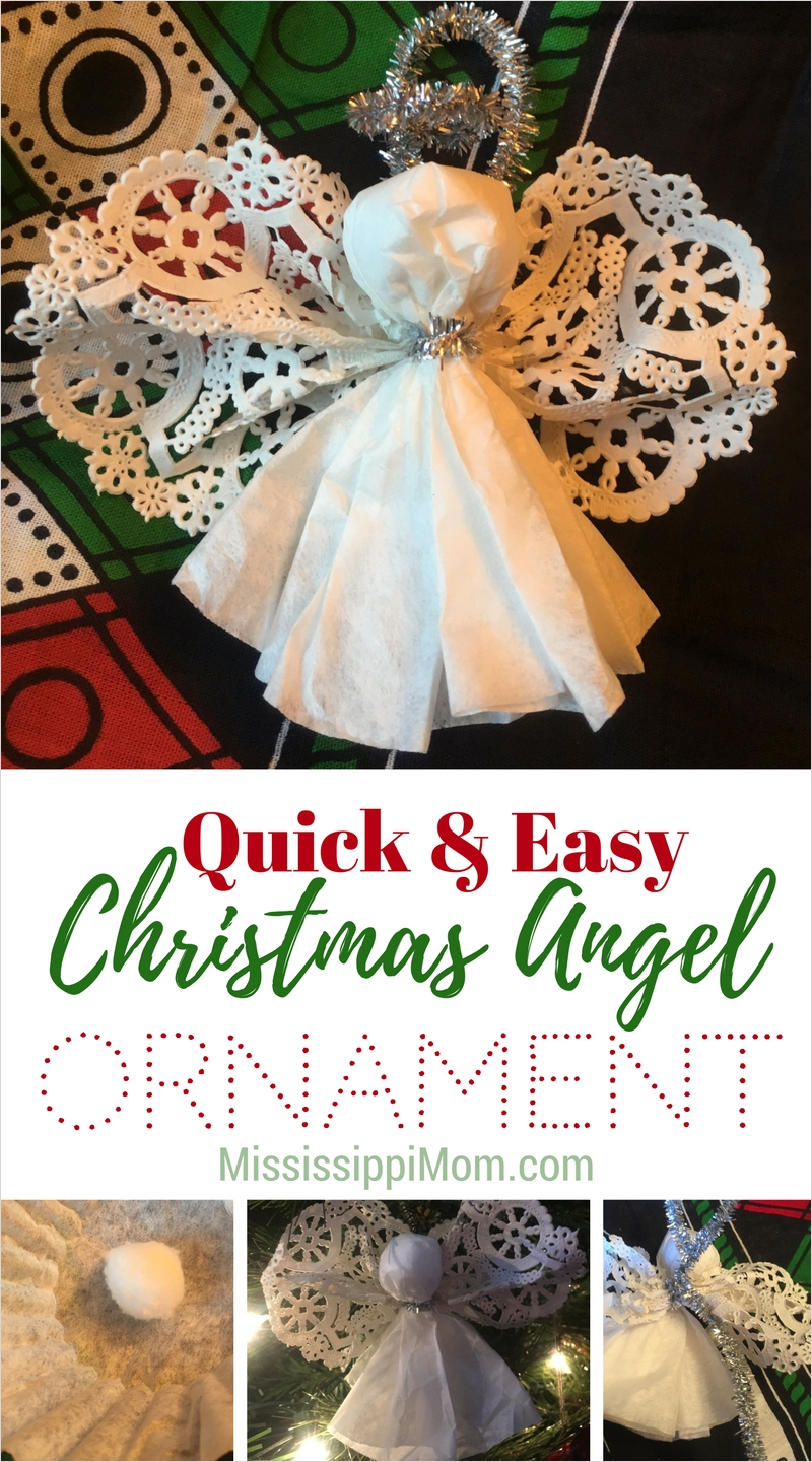 40 Diy Easy Christmas ornament Crafts Ideas 49 How to Make A Quick and Easy Angel ornament Mississippimom 1