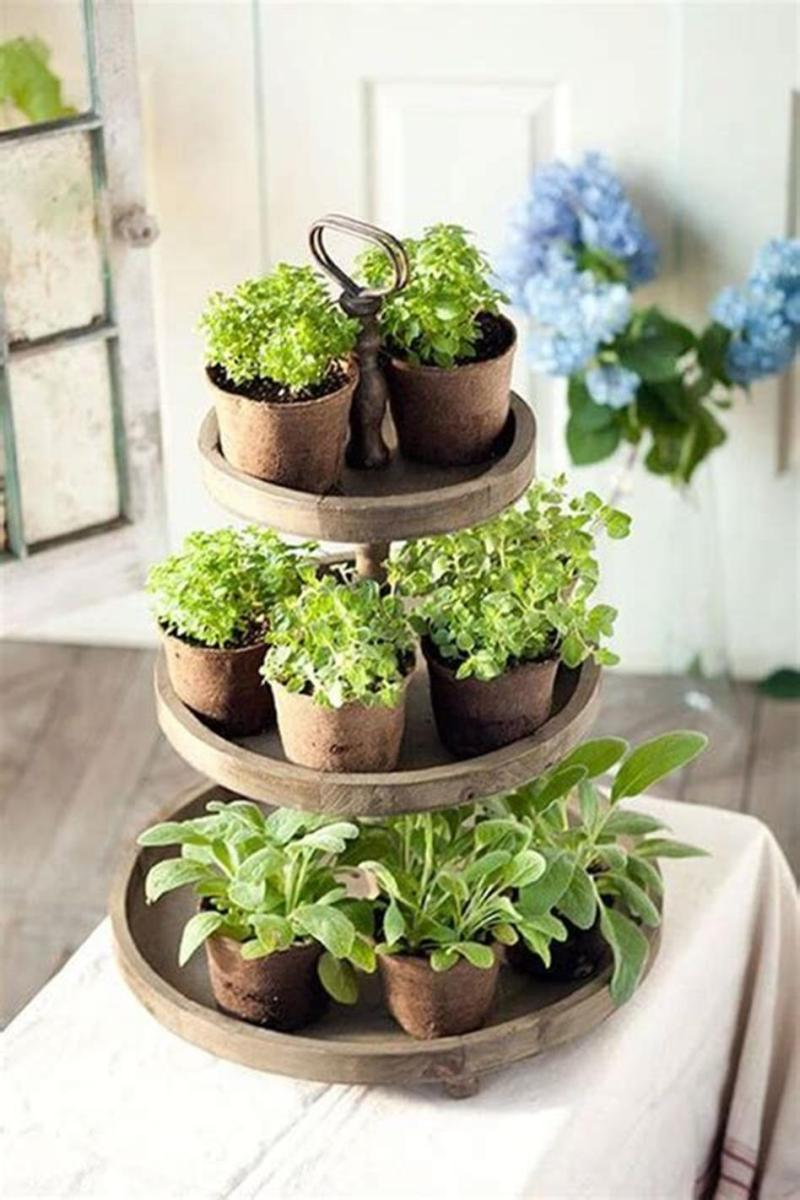 40 Creative Spring Decor Tiered Tray Ideas 25