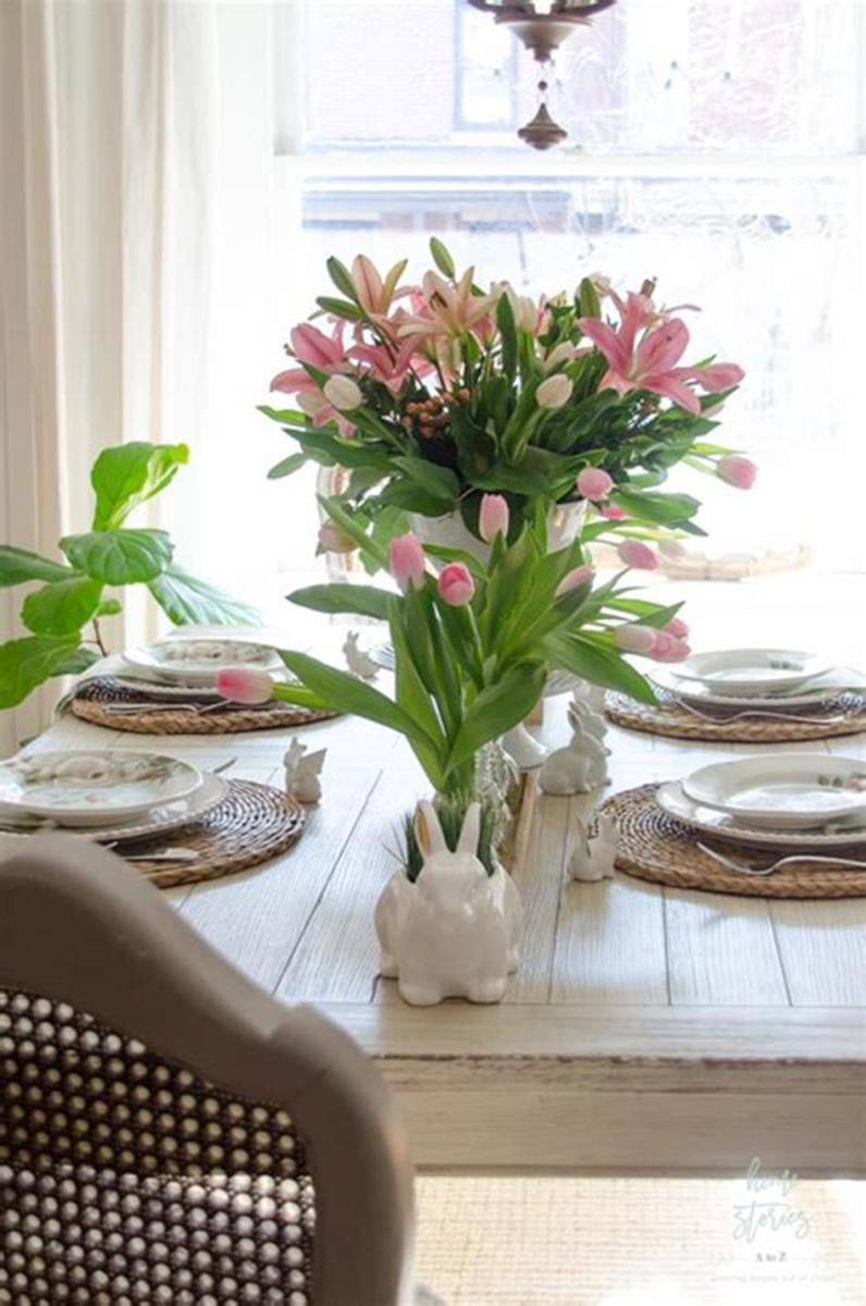 35 Stunning Spring Kitchen and Dining Room Decorating Ideas 2019 11