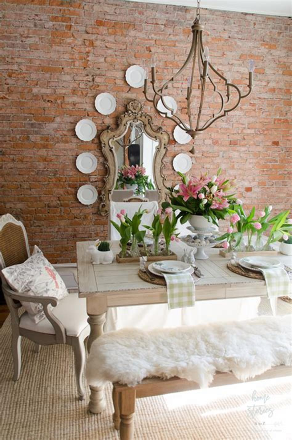 35 Stunning Spring Kitchen and Dining Room Decorating Ideas 2019 19