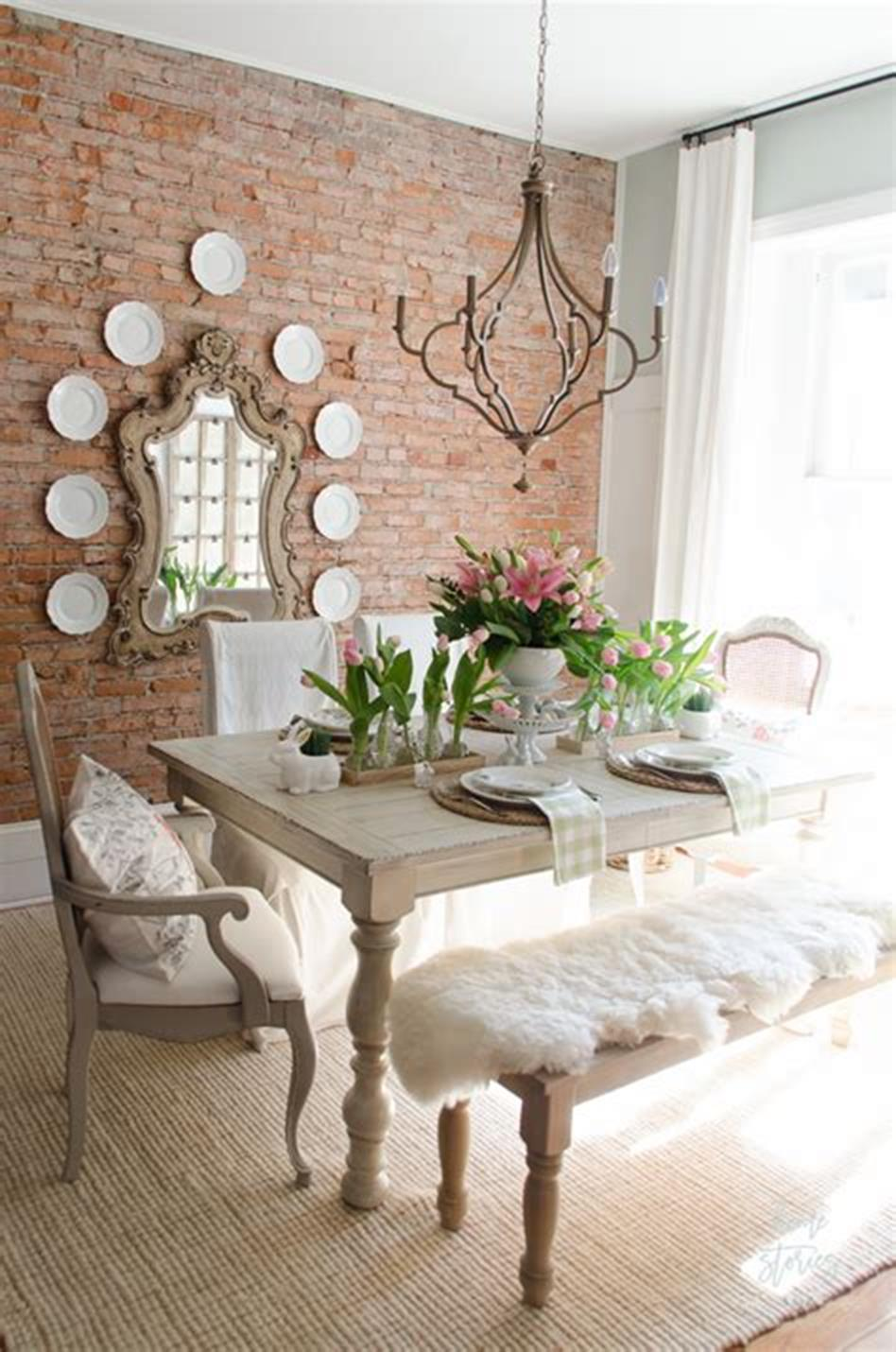 35 Stunning Spring Kitchen and Dining Room Decorating Ideas 2019 23