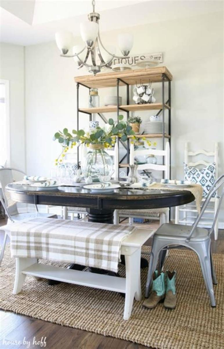 35 Stunning Spring Kitchen and Dining Room Decorating Ideas 2019 35