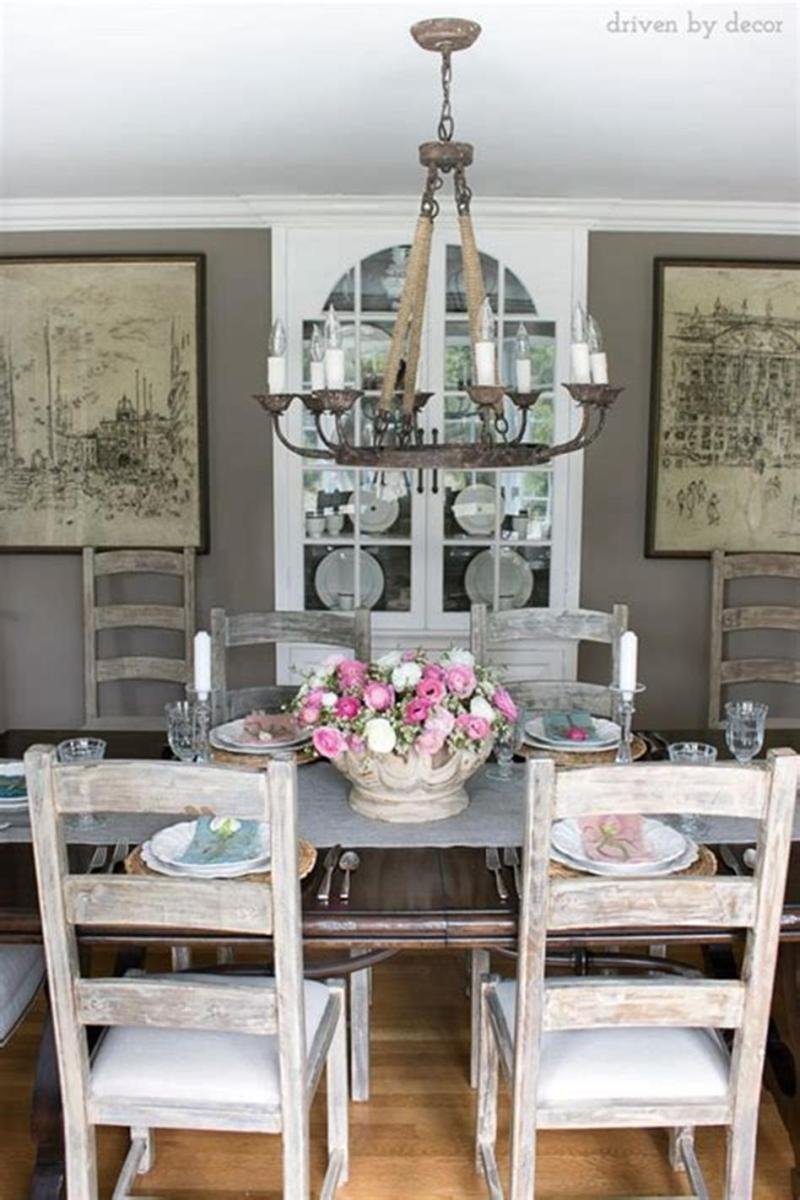 35 Stunning Spring Kitchen and Dining Room Decorating Ideas 2019 36