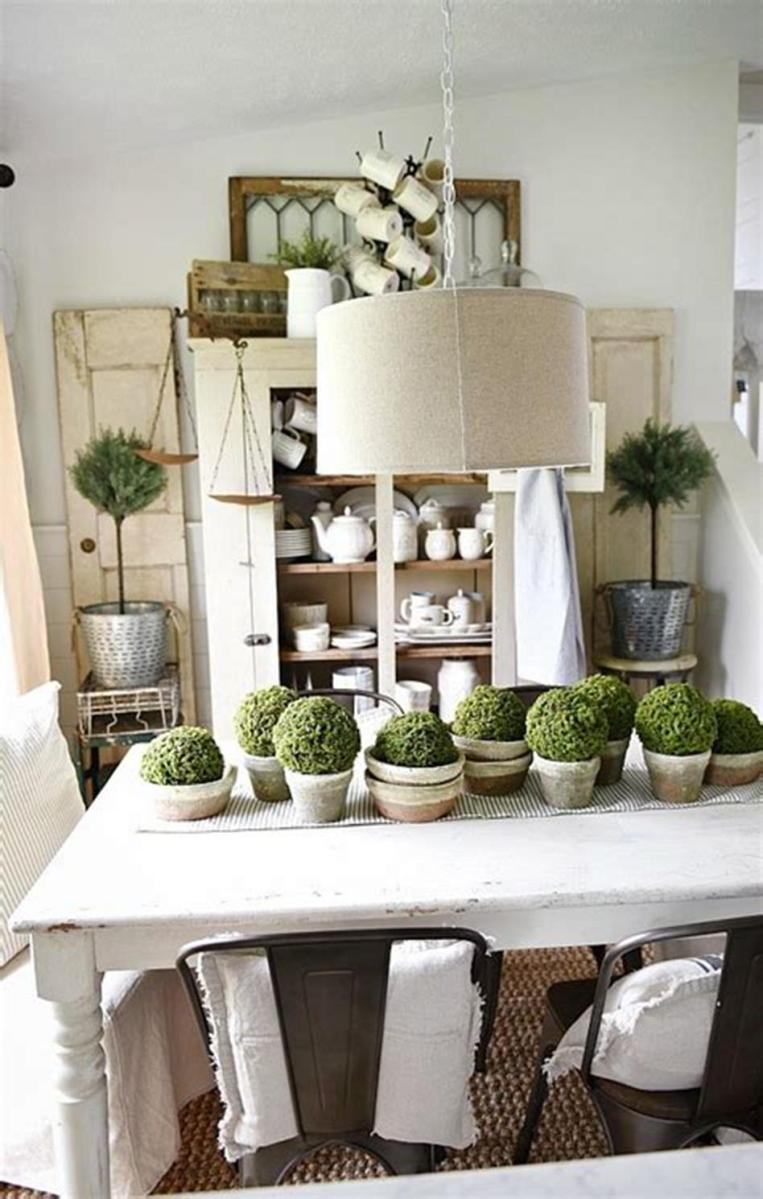 35 Stunning Spring Kitchen and Dining Room Decorating Ideas 2019 50