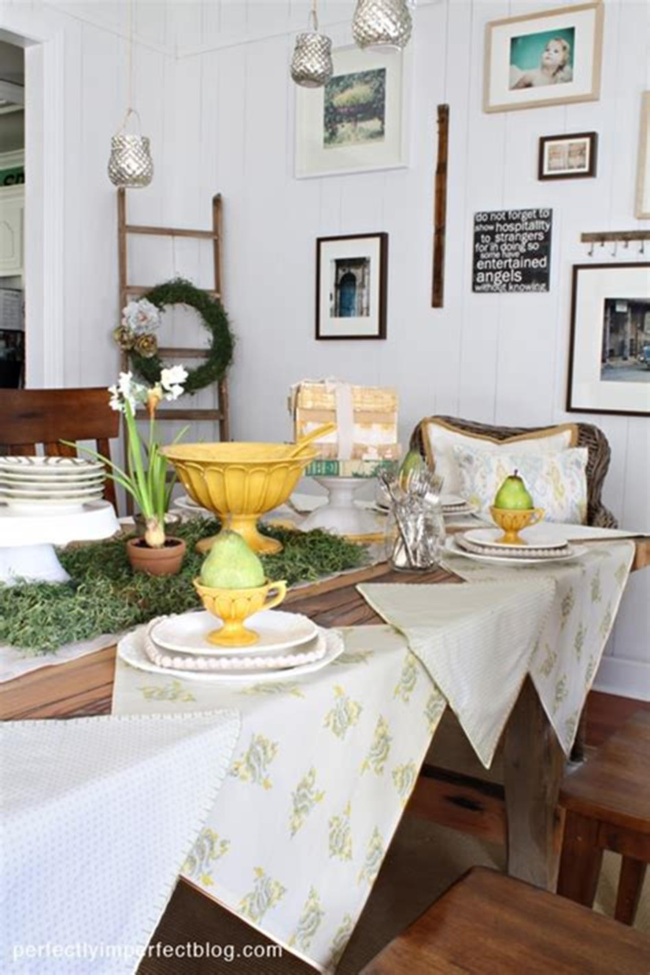 35 Stunning Spring Kitchen and Dining Room Decorating Ideas 2019 8