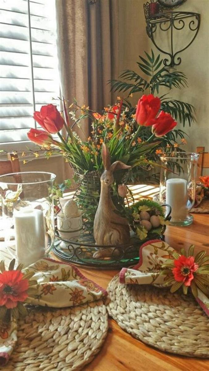 40 Beautiful DIY Easter Table Decorating Ideas for Spring 2019 2
