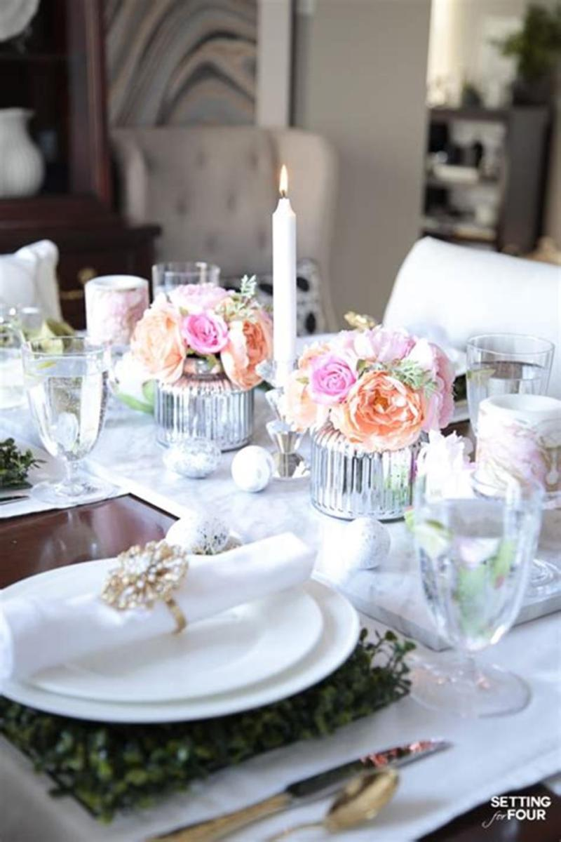 40 Beautiful DIY Easter Table Decorating Ideas for Spring 2019 43