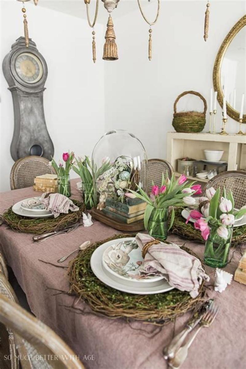 40 Beautiful DIY Easter Table Decorating Ideas for Spring 2019 55