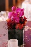 Composition florale des tables invités