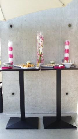 Décoration des buffets de l'extérieur