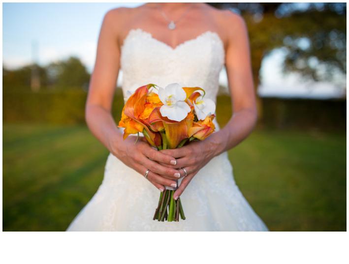 Bouquet graphique de la mariée
