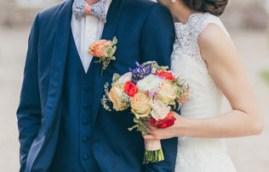 Bouquet de la mariée et boutonnière du marié
