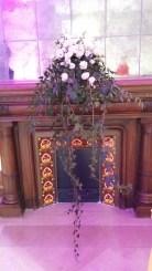 Décoration florale de la cheminée