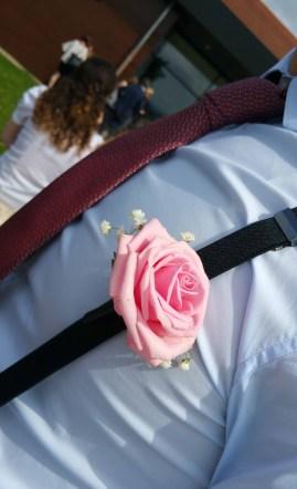 Boutonnière du témoin du marié