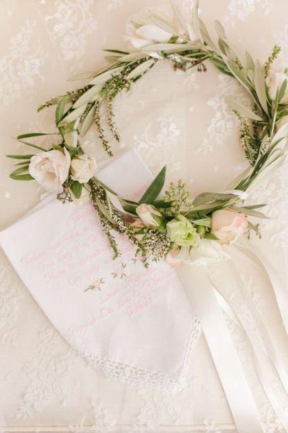 Couronne fleurie pour la mariée ou ses demoiselles d'honneur