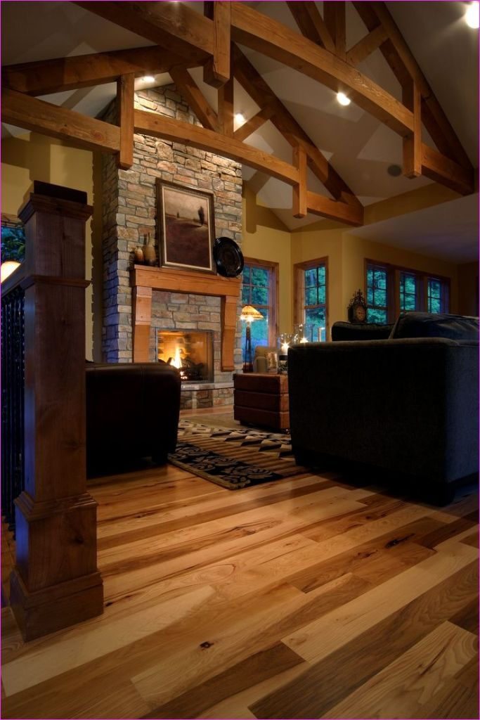 Living Room with Hickory Flooring 82 17 Best Images About Homerwood In the Home On Pinterest 5
