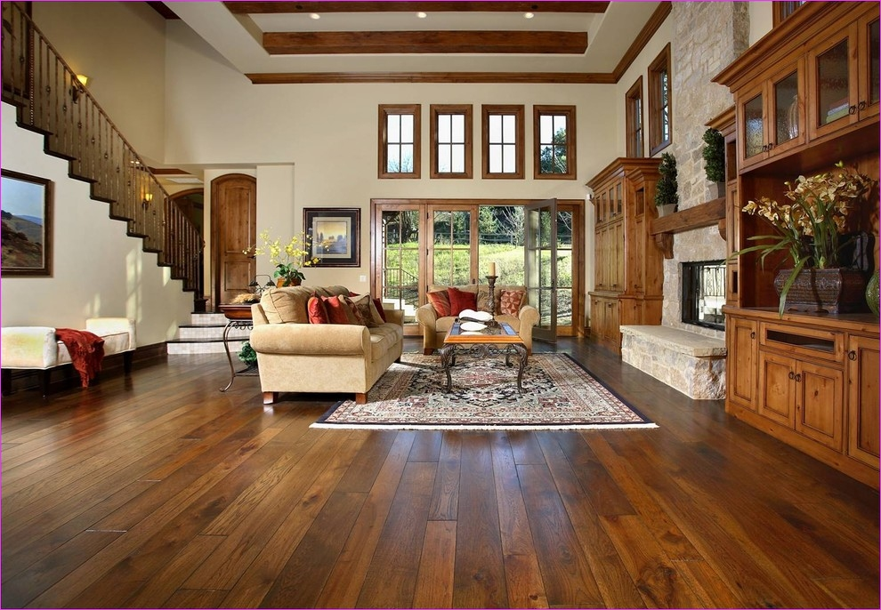 Living Room with Hickory Flooring 18 Hickory Wood Floors Living Room Traditional with area Rug Clerestory Dark Floor Decorative 2