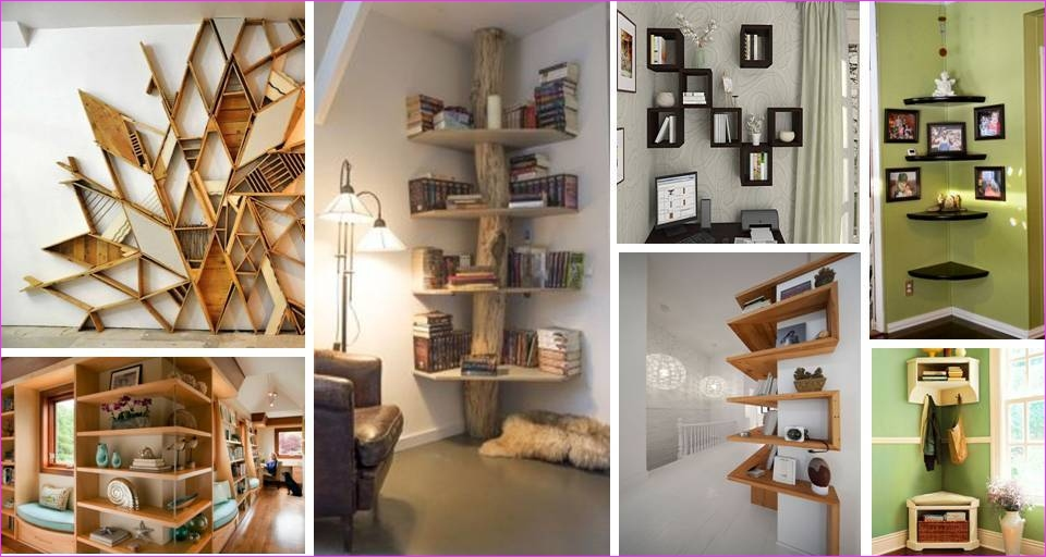 Wall Display Shelving Ideas 11 30 Contemporary Interior Wall Decorations & Display Corner Shelves Ideas Decor Units 5