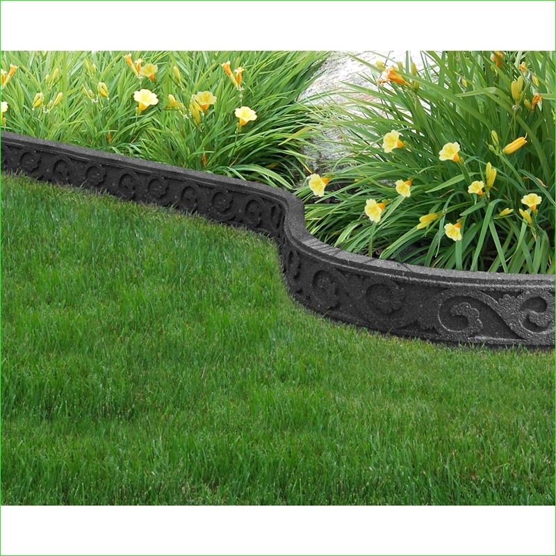 Garden Edging and Borders 95 Flexi Curve Garden Border Scroll Grey at Homebase 1