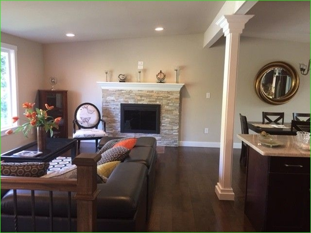 Living Room Page Level Decor 36 Transformed Split Entry Into Spacious Great Room with Classic Split Level Living Room Decor 6