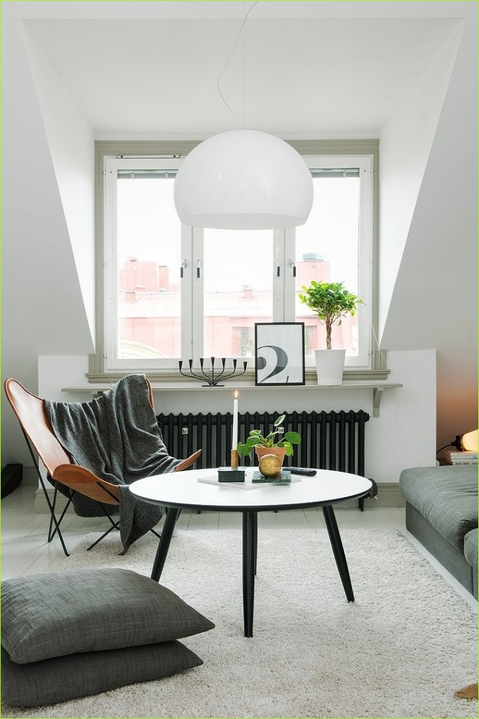 Living Rooms Denmark Decorating Ideas 52 Decordots Scandinavian Apartment with Sloped Ceiling 5