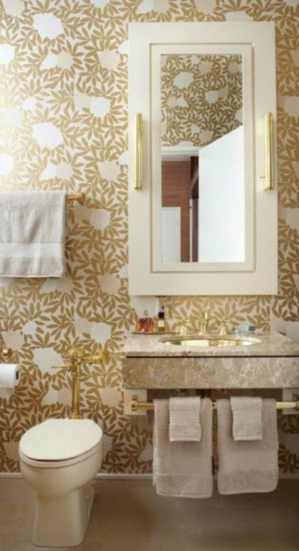 Beautiful Gold and White Bathroom 10