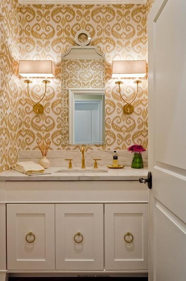 Beautiful Gold and White Bathroom 22
