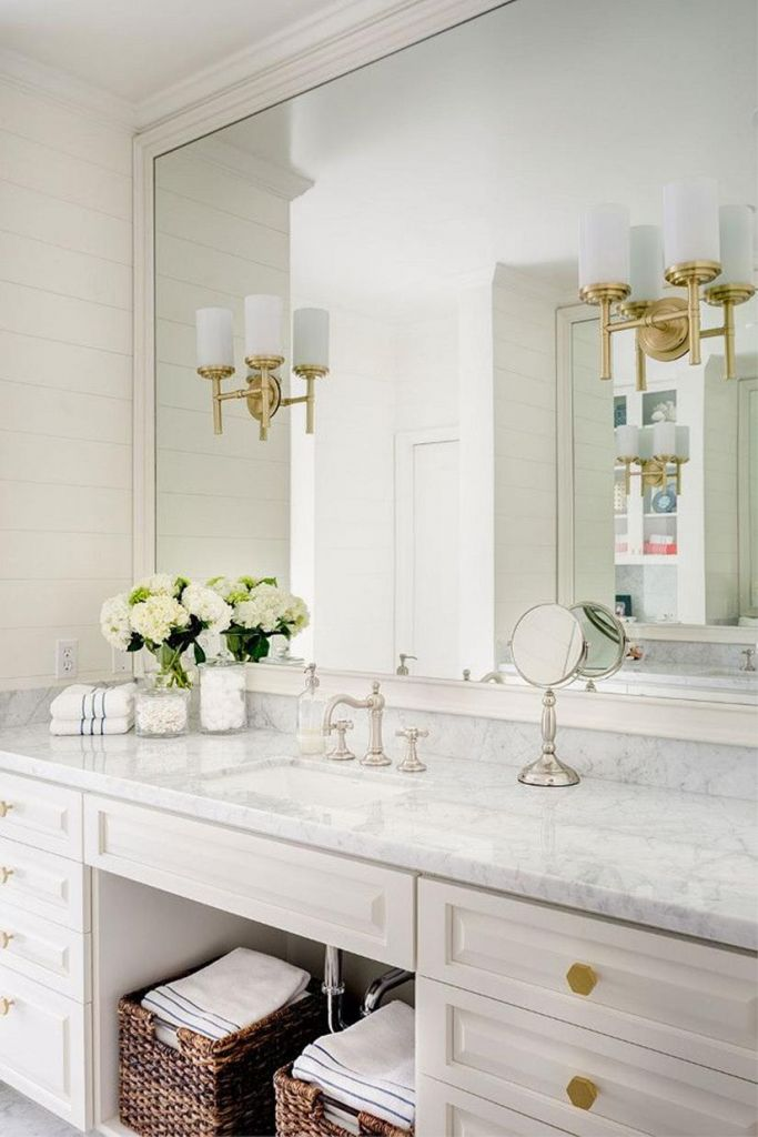 Beautiful Gold and White Bathroom 23