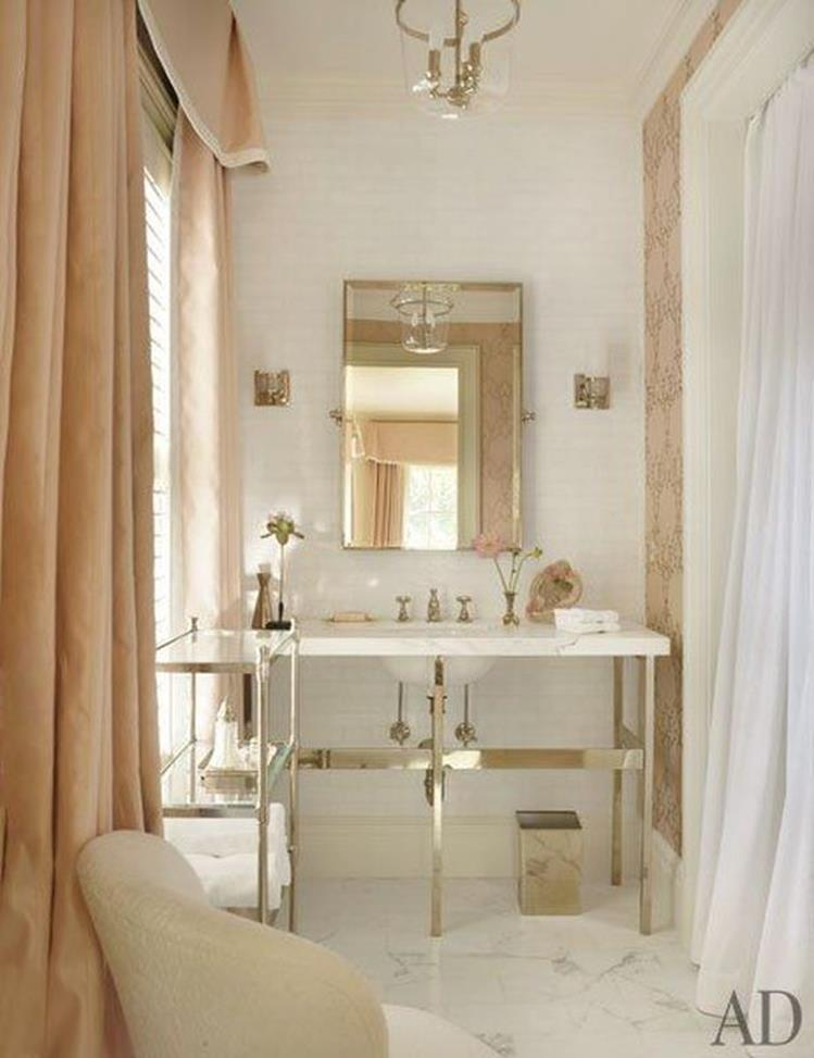 Beautiful Gold and White Bathroom 26