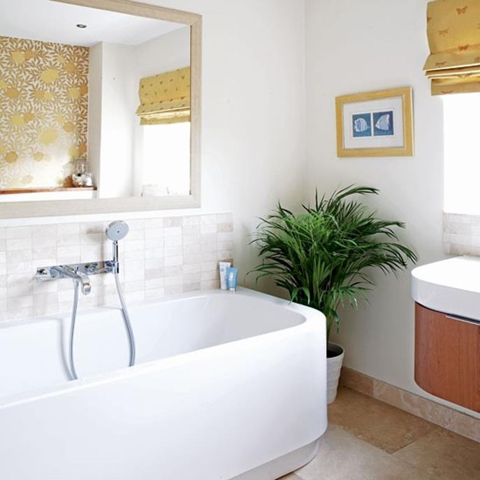 Beautiful Gold and White Bathroom 31