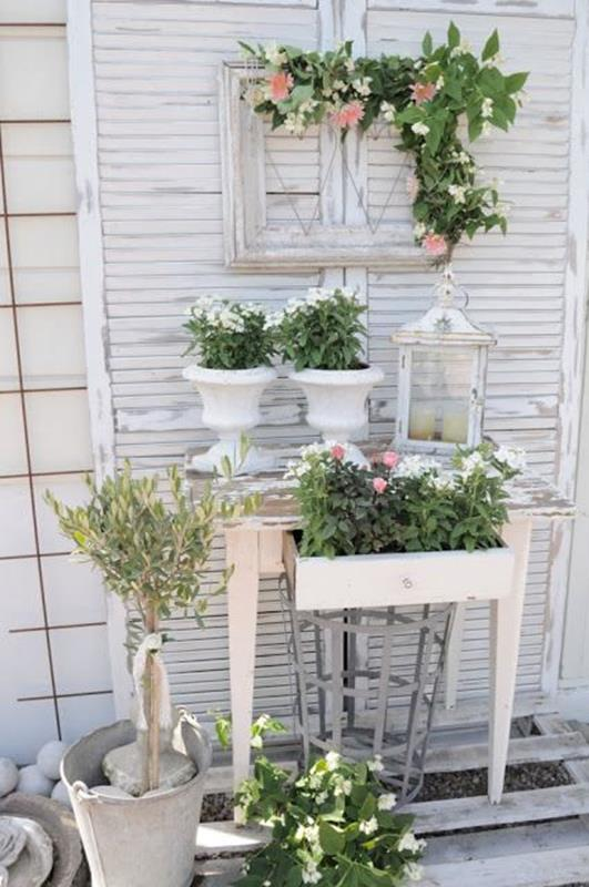 Shabby Chic Garden Decor 86