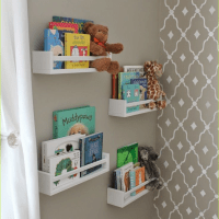 Clever Ideas Nursery Wall Shelf with IKEA