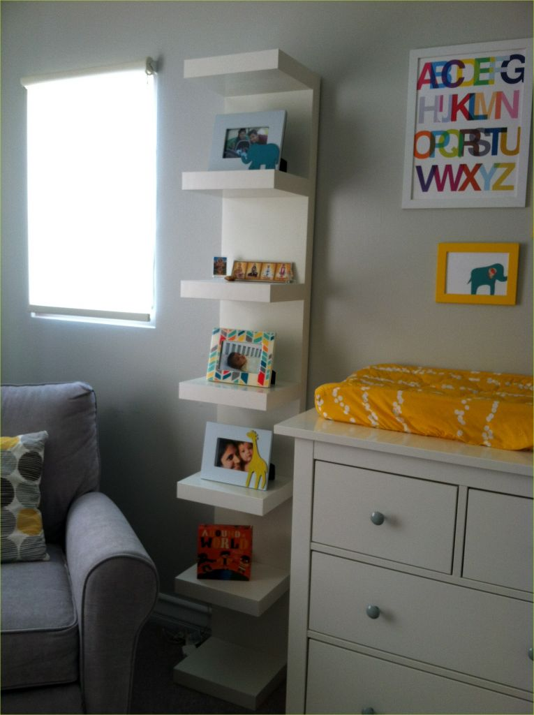 Nursery Wall Shelf Ikea 79 Nursery Design Elephants with Yellow White & Gray Chai Mommas 6