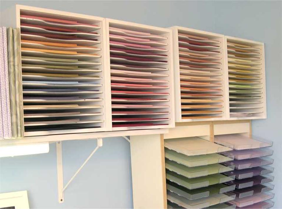 Craft Room Paper Storage 21