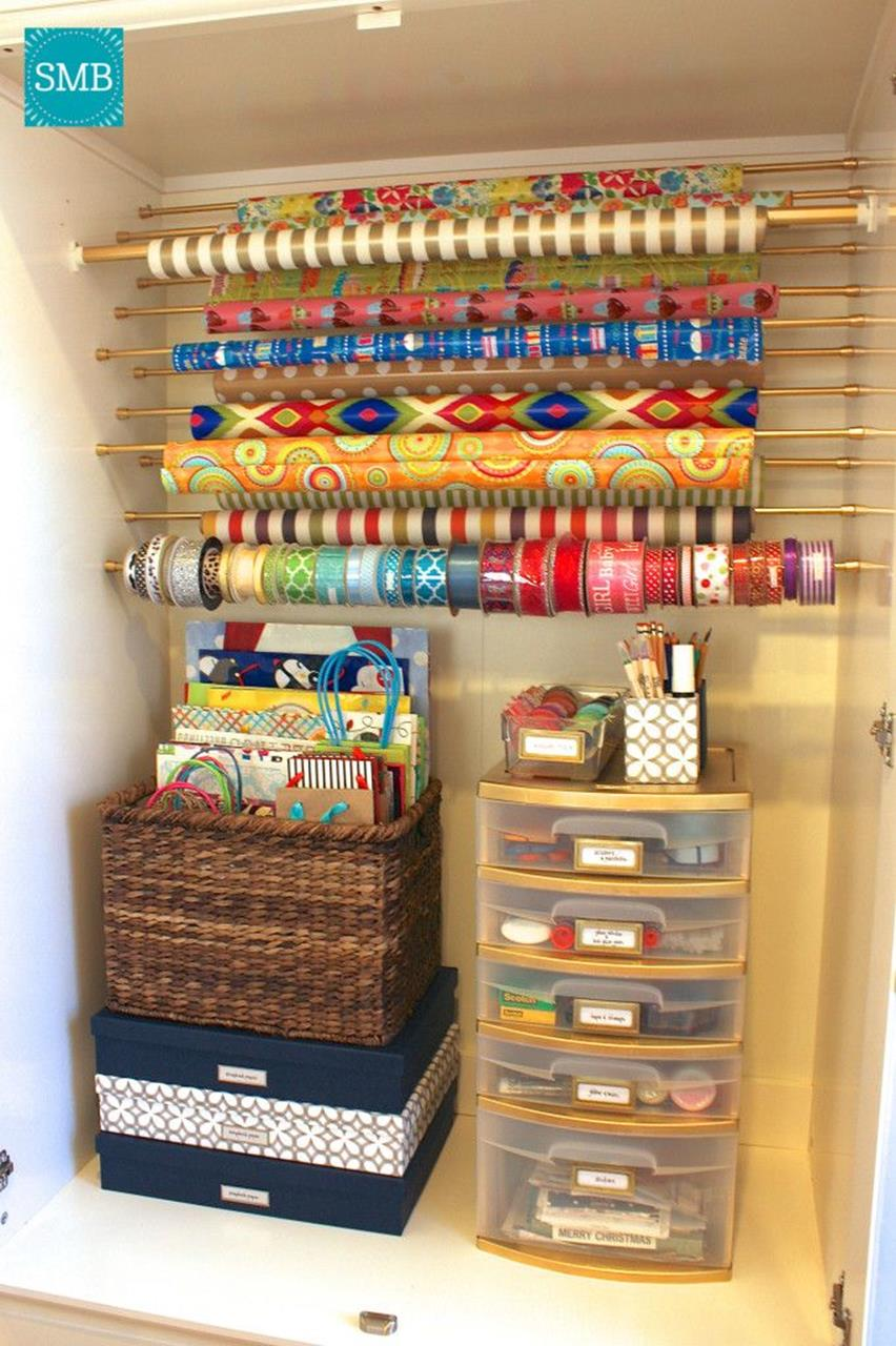 Craft Room Paper Storage 9