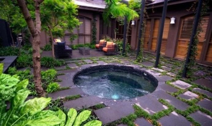 Small Backyard Ideas with Hot Tub 10