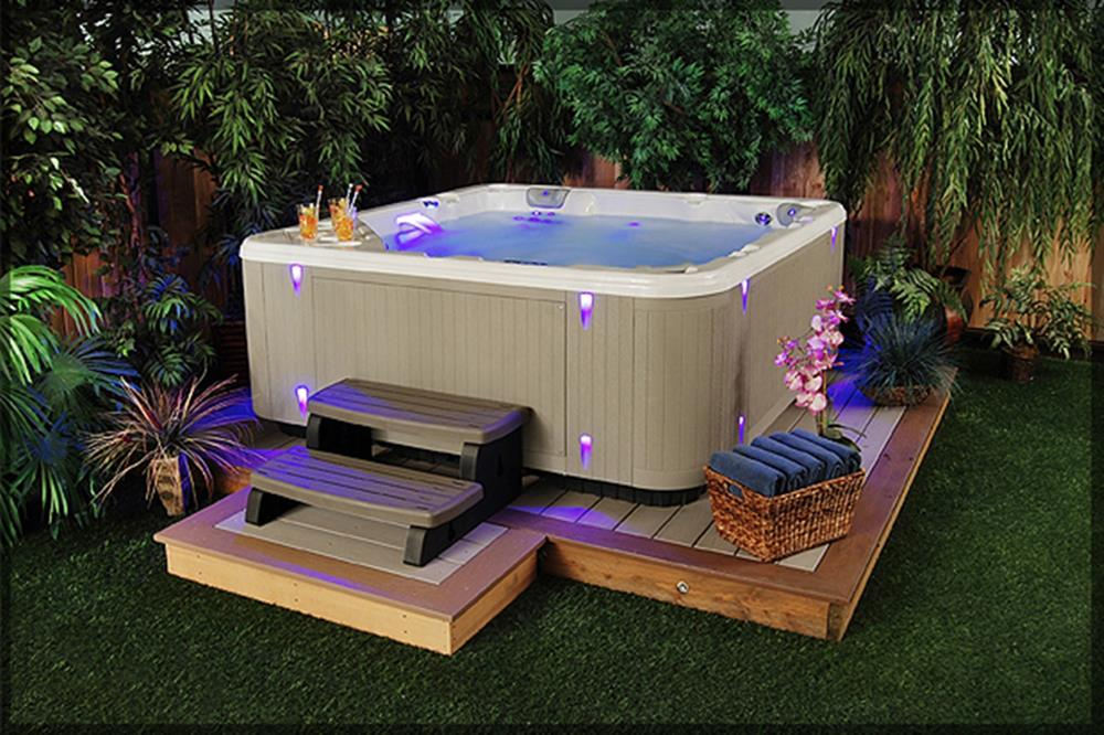 Small Backyard Ideas with Hot Tub 11