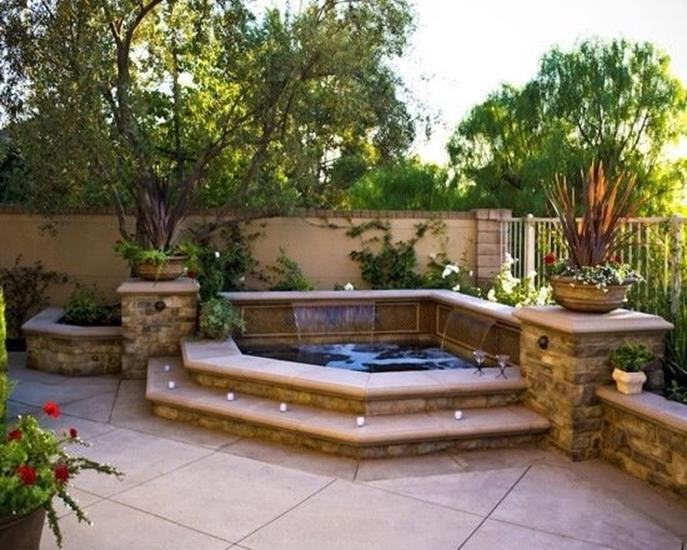 Small Backyard Ideas with Hot Tub 14