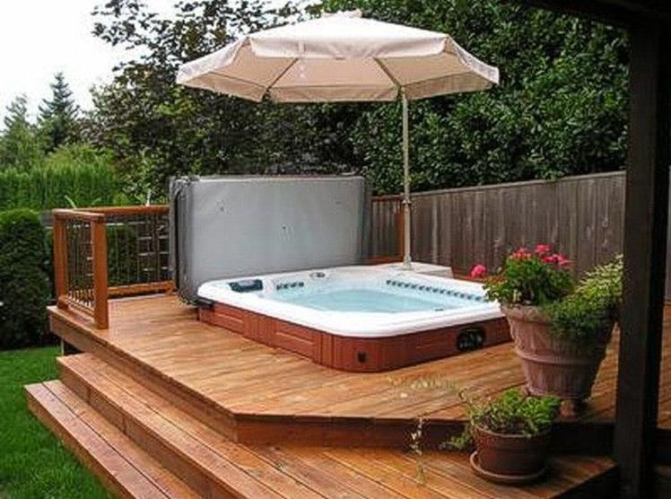 Small Backyard Ideas with Hot Tub 4