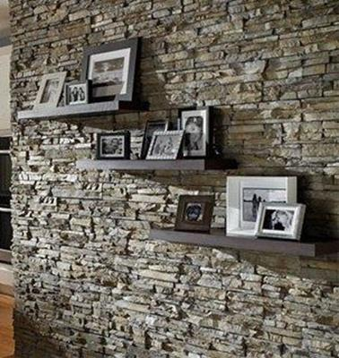 Living Room Smooth Stone Interior Walls 19
