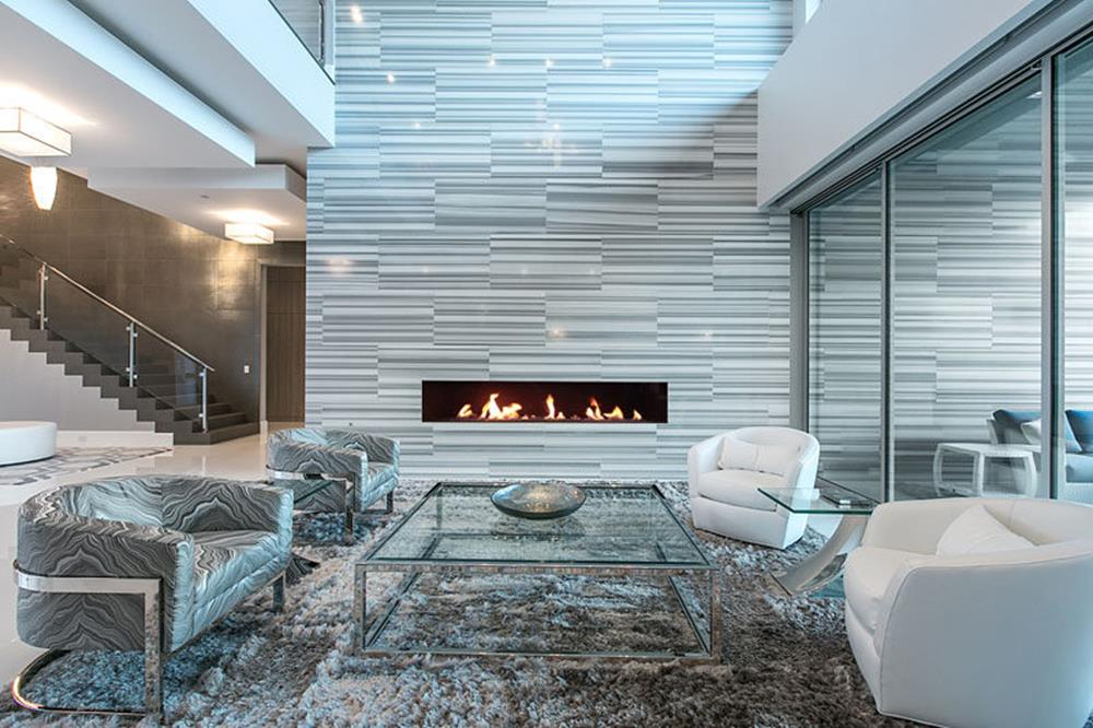 Living Room Smooth Stone Interior Walls 29