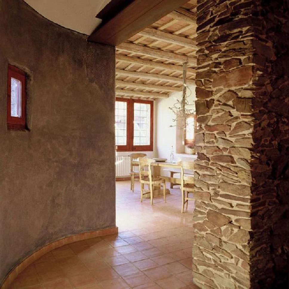 Living Room Smooth Stone Interior Walls 6