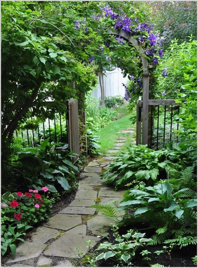 Beautiful Stone Path around Flowers 13